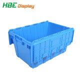 Logística rentadas plástico resistente maletín de almacenamiento de verificación para el paquete