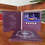 Video bollettino musicale personalizzato della cartolina d'auguri di affari dell'opuscolo