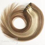 Remyの人間の毛髪の拡張の#8/613完全なヘッド絹のまっすぐなクリップ