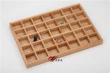 Log/Madeira maciça ourivesaria Bandeja de Exibição/Caso/Caixa/Organizador em 7*5 Grelhas