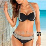 Reizvoll drücken gurtet oben Frauen-Bikini-Badebekleidungs-Badeanzug-Bikini mit verziertem Büstenhalter