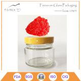 Kaviar-Glasvakuumglas mit Metallschutzkappe, Kaviar-Behälter