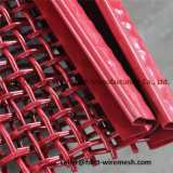 Ячеистая сеть красного цвета гофрированная сплетенная с крюком