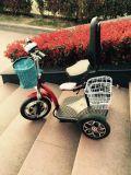 Три колеса скутера с электроприводом с держателя мешок для гольфа (et-es002-g)