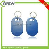 아BS 중요한 Fob 13.56MHz 로고에 의하여 인쇄되는 RFID MIFARE keyfob