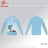 Healong a personnalisé des chemises de Jersey de pêche d'usure de club de pêche