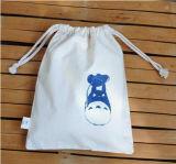 Sac en gros de cadeau de sac de cordon de coton d'usine petit pour la promotion