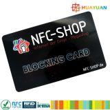 HUAYUAN anti het Binnendringen in een beveiligd computersysteem De Blokkerende Kaart van de Bescherming RFID van de Creditcard