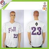 Piste faite sur commande blanc en bonne santé du Jersey de base-ball d'hommes blancs de dri de polyester de Dreamfox