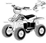 De vrolijke 24V 350W Elektrische MiniFiets van de Vierling ATV voor Jonge geitjes