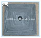 Tampa de câmara de visita leve resistente da carcaça de areia do dever de Qt500-7 En124 A15 B125 C250 D400 E600