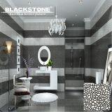 300X300 Cobble 3D estilo azulejo de porcelana pulida con blanco y negro (BROP2114)