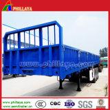 3 de Semi Aanhangwagens van Tranport van de Lading stortgoed van de Aanhangwagen van de Container van Removeable van het Nut van de as met Zijgevel Removeable