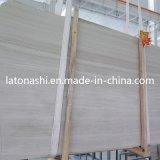 Losa de mármol de madera del blanco chino del descuento para la encimera y la tapa de la vanidad