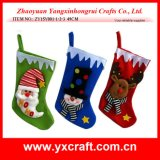 Santa Claus, Snowman, Reindeer Hanging Christmas Decoration Stocking