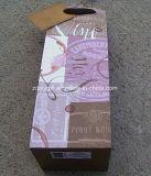 La impresión de encargo de la insignia recicla las bolsas de papel de la botella de vino
