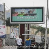PVC extérieur annonçant le cadre léger de centre de poste d'essence de Pedtrol de panneau-réclame du drapeau DEL d'affiche