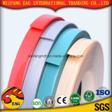 Borda de borda de madeira lustrosa elevada do PVC da cor da grão da cor contínua com boa qualidade