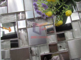 水晶モザイク(CFM1015)が付いている銀製の鏡面および粉砕の表面混合されたステンレス鋼