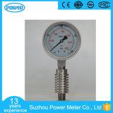 manometro della cassa di acciaio inossidabile di 100mm con il tubo del condensatore del radiatore