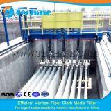 La extracción de sólidos por el filtro de medios de tela de fibra