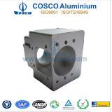 Extrusion en aluminium/en aluminium pour des parties avec l'usinage de commande numérique par ordinateur