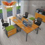 2017の新しいデザイン4人Xの形のオフィスワークステーション