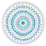 Tsaaelのトリムが付いている円形の印刷されたビーチタオル