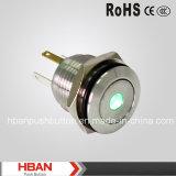 CE RoHS Pulsador de 16mm con un punto luminoso