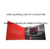 Carte de vœux vidéo à cristaux liquides pour salle événementielle / concert, promotion carte graphique vidéo produit