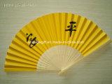 Promocional de bambú papel plegable mano ventiladores personalizados