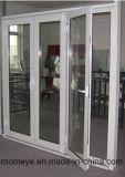 Deur Af fabriek van het Glas van de Gordijnstof van het Aluminium van de Prijs van Zhejiang de Dubbel Verglaasde