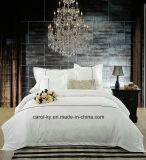 Coloque papel branco de algodão têxteis Lençol Hotel Bedding Set