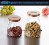 de Duidelijke Flessen van de Opslag van het Glas 700ml Spiceberry met Houten Deksels