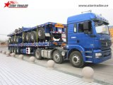 3axles販売のためのトレーラー40-60トンのプラットホームの貨物