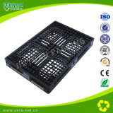 Pallet di plastica Cross-Section di colore del Singolo-Lato nero dell'HDPE
