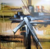 Pittura-Nuovo disegno dell'olio astratto