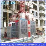 alzamiento doble de la construcción de la elevación del pasajero de la jaula 2ton