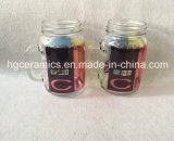 frasco de pedreiro do Sublimation 16oz, forma redonda, caneca de vidro do frasco de pedreiro 16oz, caneca do vidro do Sublimation 16oz