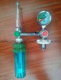 Regolatore medico dell'ossigeno con il connettore verticale