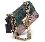 Sacchetto di spalla del cuoio genuino della pelle di serpente delle borse di marca dello stilista (LDO-01672)