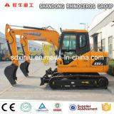 Mini máquina escavadora hidráulica nova da esteira rolante da máquina escavadora 8ton com motor japonês