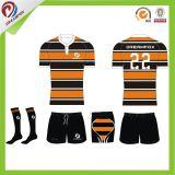 Concevoir les ventes en gros sublimées du Jersey de rugby de chemises de pratique