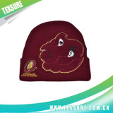 Индивидуального стиля синий трикотажные/вязки зима шапки с вышивкой логотипа (068)