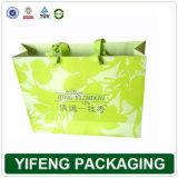 Papier couleur un sac de shopping avec poignée (FJ-090)