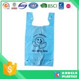 Le sac d'épicerie de T-shirt de HDPE avec vous possèdent le logo