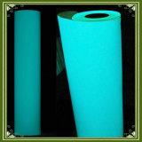 Resplandor en color verde azul del ANG del traspaso térmico de la hoja oscura del vinilo
