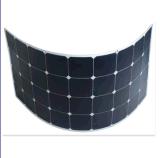 경량 Sunpower 세포 100W 반 유연한 태양 전지판