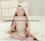 100%年の綿の赤ん坊タオル/赤ん坊の浴室タオル