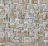 Estilo rústico, pedra mármore natural em mosaico lado a lado, piso de Paisagem Mosaic (FS25)